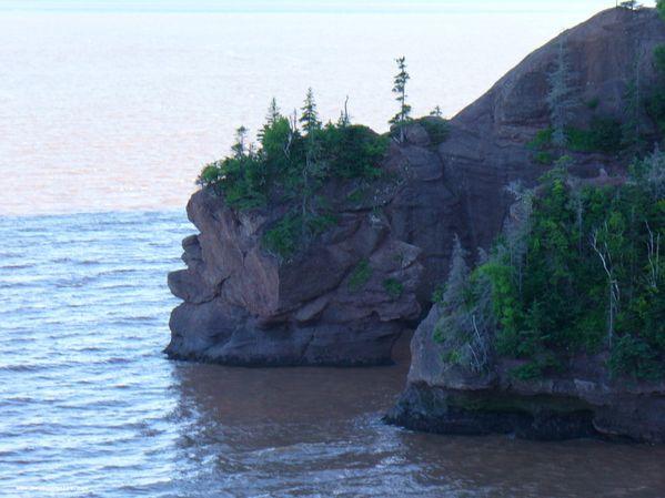 Hopewell Rocks lorsque la marée monte
