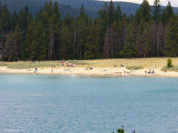 La plage du Lac Annette
