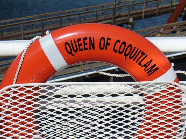 Une bouée de sauvetage du Queen of Coquitlam