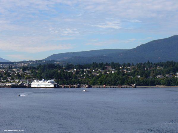 On quitte l'île de Vancouver (Namaimo)