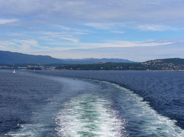 Départ de l'Île de Vancouver