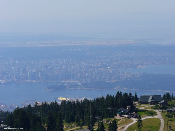 Vancouver depuis Grouse Mountain