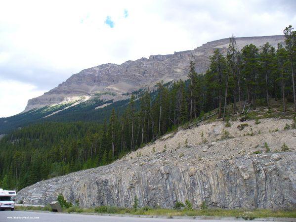 Des montagnes dans le Parc National de Jasper