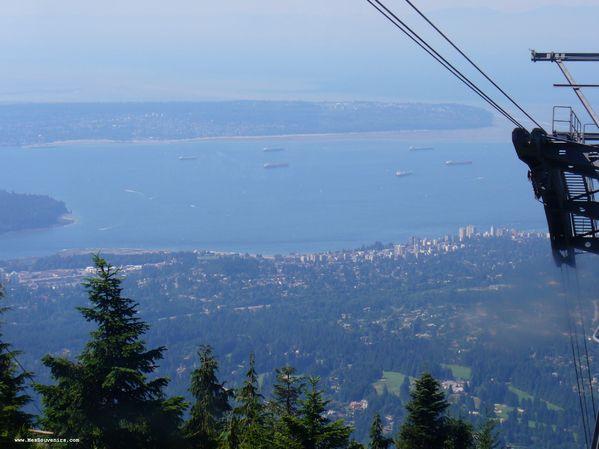 Vue de la rive nord de Vancouver