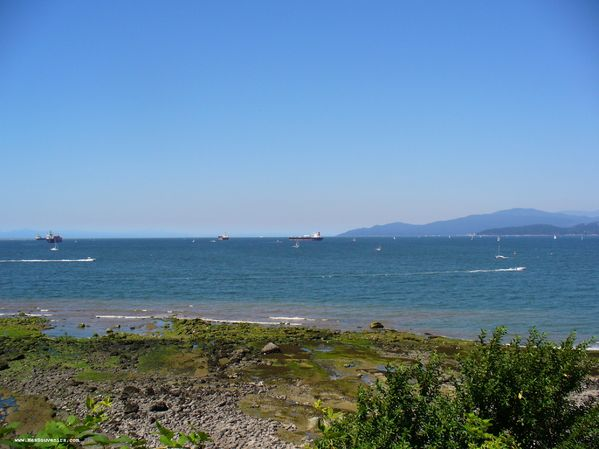 Vue de la baie depuis le Stanley Park - Vancouver