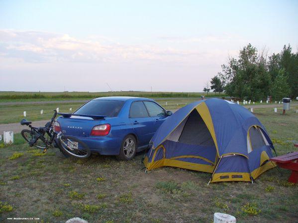 Camping David Laird Campground à North Battleford en Saskatchewan