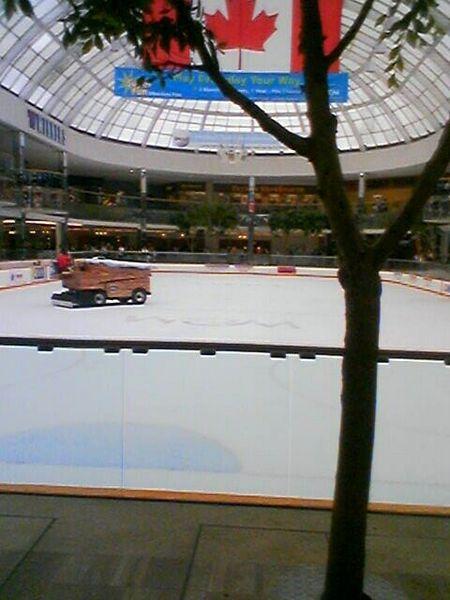 Zamboni dans le Centre d'achat West Edmondon Mall