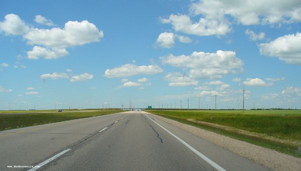 Aperçu de la transcanadienne au Manitoba