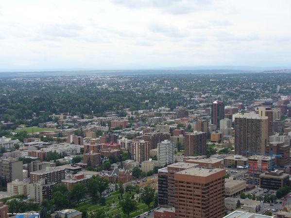 Une vue sur la ville de Calgary
