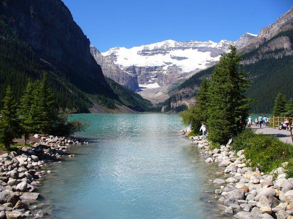 Une vue différente du lac Louise