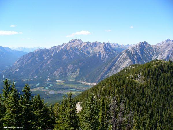 Vue en haut du téléphérique de Banff