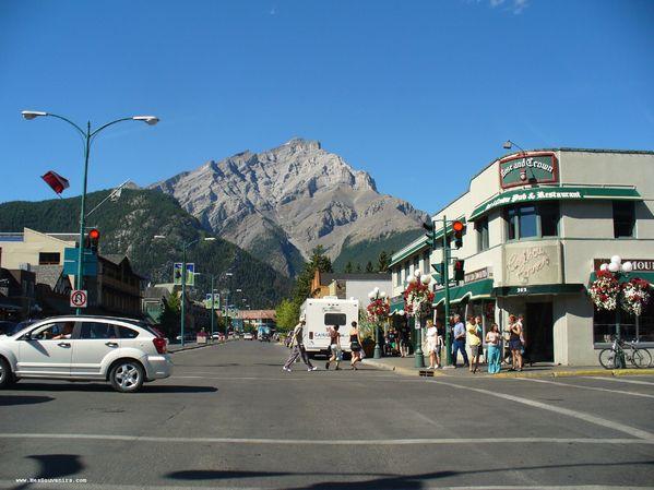 Une jolie vue du village de Banff