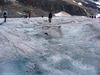 Les ruisseaux créés par le fonte de la glace