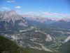 Vue sur le village de Banff