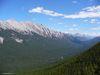 Le paysage depuis le téléphérique de Banff