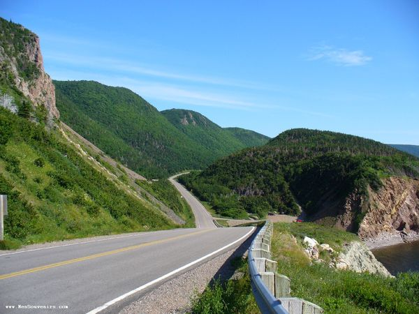 La Cabot Trail depuis la Grande Falaise