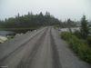 Seul chemin donnant accès à l'extrémité du parc Porters Lake