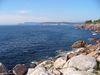 Une vue de la côte depuis Green Cove