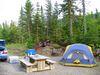 Mon emplacement de camping au mont Jacques-Cartier