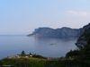 Une vue sur le Cap-Bon-Ami et au loin le Cap-Gaspé