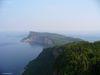 Une vue de la péninsule de Forillon depuis la tour d'observation.