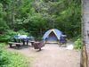 Mon emplacement sur le camping Petit-Gaspé
