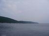 Le vue depuis la plage de Petit-Gaspé