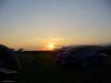 Coucher de soleil pour la Subaru